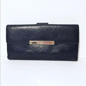👑Gucci👑 Monogram Snap Button Long Wallet